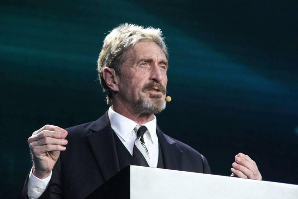 John McAfee to run for president in 2020 but with the aim of solely promoting cryptocurrencies